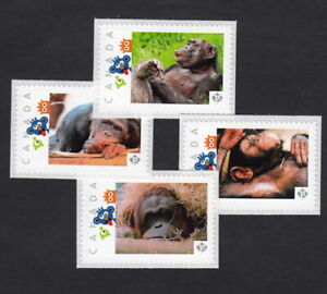 MONKEYS = Set of 4 Picture Postage Stamps MNH Canada 2015 [p15-041mk4]