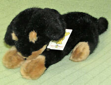 "14"" VINTAGE MARY MEYER ROTTWEILER DOBERMAN PLUSH DOG PUPPY 1995 ARCHIE JR w TAG"