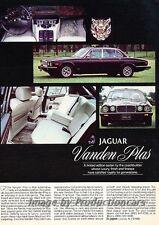 1982 Jaguar Xj6 Vanden plas Original Advertisement Print Art Car Ad J793
