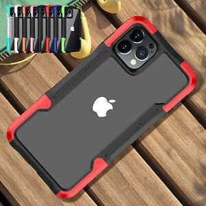 For iPhone 12 Pro Max 8 7Plus SE2 11 Pro Clear Shockproof Bumper TPU Case Cover