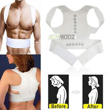 White Power Magnetic Posture Sport Correction Band Body Positioning Strap Waist