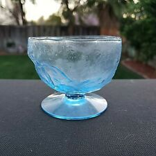 Seneca Driftwood Peacock Blue Elegant Glass Sherbet