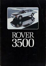 Rover 3500 Prospekt 1977 DK dänisch danish dansk Autoprospekt Broschüre brochure