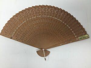ORIGINAL VINTAGE TRAVEL CYPRESS GARDENS FLORIDA Wood Hand Fan