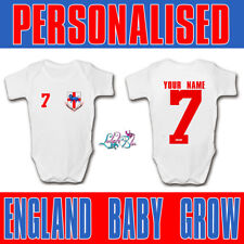 Personalised England 2018 Football Baby Grow   Football Baby Romper   World Cup