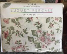 Luxury Percale Cal King Sheet Set 200 Thread Count New!