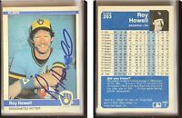 Roy Howell Signed 1984 Fleer #203 Card Milwaukee Brewers Auto Autograph