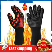 BBQ Grill Gloves 1472°F Extreme Heat Resistant Non-Slip Grilling Oven Mitt
