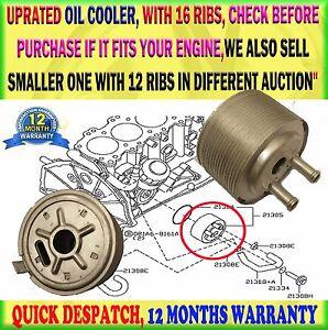 FOR NISSAN NAVARA D22 2.5 NAVARA D40 PATHFINDER R51 16 RIBS ENGINE OIL COOLER