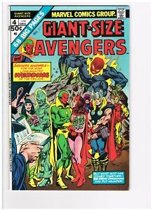 GIANT-SIZE AVENGERS  #4  VF- (7.5)   KEY!   Vision / Scarlet Witch Wedding!