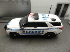 GREENLIGHT POLICE FORD EXPLORER 2021 NYC SHERIFF PLATE READER CUSTOM UNIT