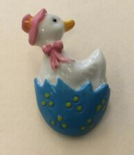 Vintage Costume Plastic Mother Goose Pin CF45