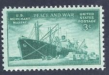 US stamp 1946 US Peace and War Merchant Marines 3 cent stamp MNH WW2 ERA #1