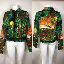 Rare Vtg Gianni Versace Cotton Tarzan Print Jacket 52 XL