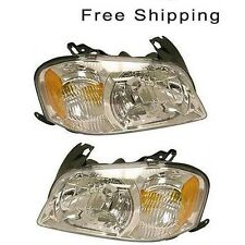 Halogen Head Lamp Assembly Set of 2 LH & RH Side Fits 2005-2006 Mazda Tribute