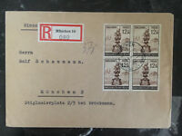 1944 Munich Germany Registered Cover Local