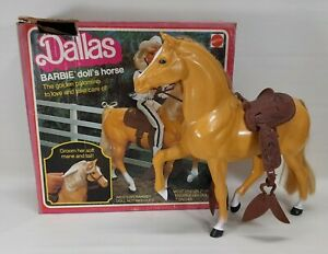 Vintage 1980 Dallas: Barbie Doll's Horse - The Golden Palomino - In Box