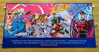 1992 Jim Lee 59x30 Marvel X-Men 1 poster:Wolverine/Magneto/Psylocke/Gambit/Rogue