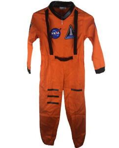 Relibeauty Girls Small Orange 100% Polyester NASA Jumpsuit Launch Suit Costume