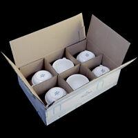 NEW Villeroy & Boch 16-2238-1271 Case Of 6 Bella 7.5 oz White Porcelain Cups