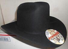 NEW Stetson Cowboy Hat Black 4x Beaver Rancher XXXX  Size 7 3/4  3 1/2 Brim L@@K