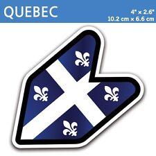 "4"" Quebec Province Fleur-de-lis Fleurdelisé JDM Wakaba Leaf Flag Decal Sticker"
