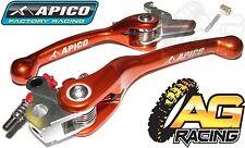 Apico Flexi Lever Set Orange Clutch Lever Brake Lever For KTM EXC 250 2005-2008