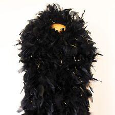 180g Black w/ Gold tinsels Chandelle Feather Boa largest on eBayCynthia's Feathe