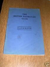 More details for rare dalmatian dog club hand book 1946