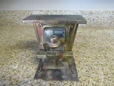 Vintage Wind-Up Music Box Metal Copper Man Piano Player Entertainer The Sting