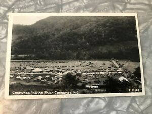 RPPC Post Card Cherokee Indian Fair Native American North Carolina