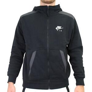 Nike Air Full-Zip Hoodie Jacke Sweatjacke Herren Schwarz DA0235 010