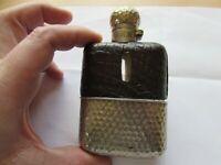 xx rare hardy alnwick vintage fishing hip flask crocodile skin golf ball finish