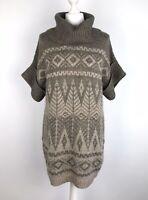 M & S Chunky Long Jumper Size 12 14 Tunic Nordic Scandi With Wool & Alpaca