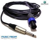 6m NEUTRIK Speaker lead Speakon Pro Lead Amp PA Amplifier Speakon-Jack 19.5Ft