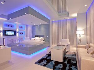 UNDER bed LIGHT kit -- BEDROOM Furnature SET lighting - KIDS room and size
