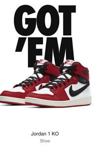 Nike Air Jordan 1 Retro KO AJKO Chicago 2021 Release. Men's 10- Confirmed