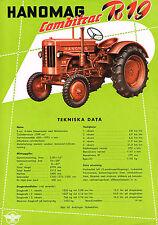Hanomag Combitrac R19, orig. franz. Prospekt 50er Jahre