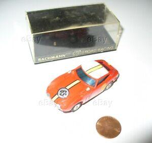 ESTATE SLOT CAR BACHMANN TOYOTOA 2000 GT #65 RACER W/BOX HO ROAD RACING MODEL