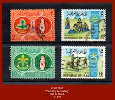 """IRAQ 1967 """"Scouting & Guiding""""  - Set x4 Stamps in Used condition"""