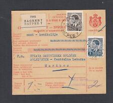 YUGOSLAVIA CROATIA 1918 PARCEL POST RECEIPT CARD ZAGREB TO MARIBOR