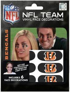 Cincinnati Bengals Eye Black Strips 6pk