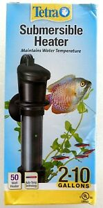 NEW Tetra Submersible Heater- 50 Watt Heater - Aquariums 2-10 Gallons
