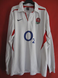 Maillot Rugby Angleterre vintage rugby England Nike O2 Blanc - XXL