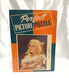 VTG 1930's Perfect Picture Puzzle Snuggle Pup 250+ pcs 1611 Jigsaw 10x13.5 1940