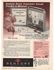 1961 Sencore Model TR-110 TransiMaster Transistor Tester Voltmeter Vtg  Print Ad