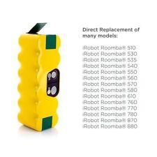 3800mAh Ni-MH Battery for Irobot Roomba 500 510 530 531 532 533 535 536 540 545