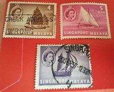 Willie: Singapore Malaya set of 3pcs