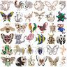 Mixed Colorful Rhinestone Crystal Pearl Animal Broach Wedding Bridal Brooch Pin