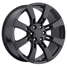 "4) 24"" Escalade Denali Wheels Rims Set Gloss Black Sierra Silverado Tahoe Yukon"